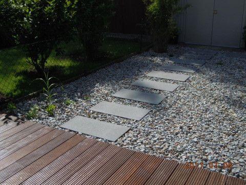 beton auf kies | outdoor | pinterest | kies, gärten und gartenweg, Gartenarbeit ideen