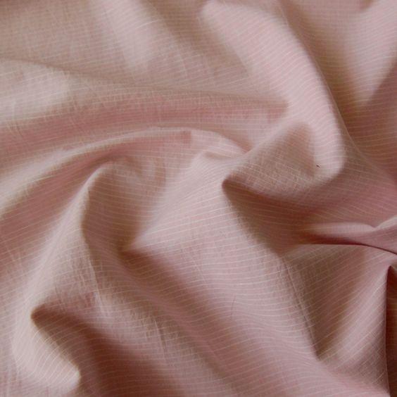 Pink Stripe Cotton Shirting
