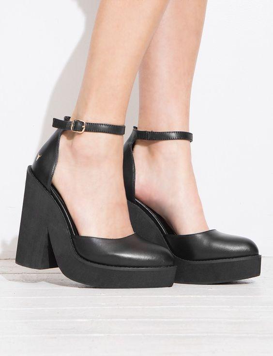 Windsor Smith Block Heel Platform Sandals $169.00   w a n t