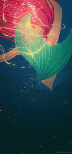 little mermaid art - Buscar con Google: