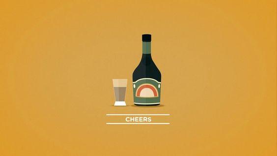 A short shot of Baileys liqueur for saturday