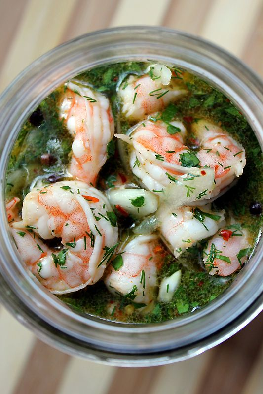 Southern-style pickled shrimp. Marinated in tart citrus juice with ...