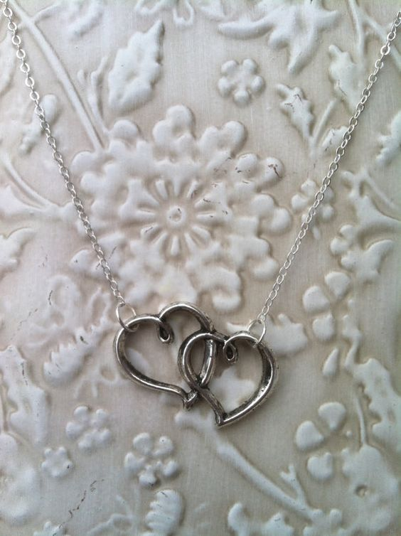 Heart in Heart Necklace by ZikisInspirations on Etsy, $16.00 #handmade #jewelry #hearts #necklace #fashion