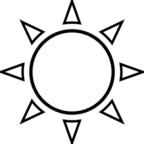 Black And White Google: Simple Sun Drawing Black And White - Google Search