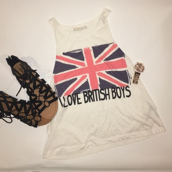 I love British Boys Muscle Tee I love British boys t-shirt. In good condition. If you have any questions please ask! Forever 21 Tops Muscle Tees