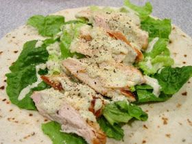 Chicken ceasar wrap. I will use La Madaline dressing instead of making my own.