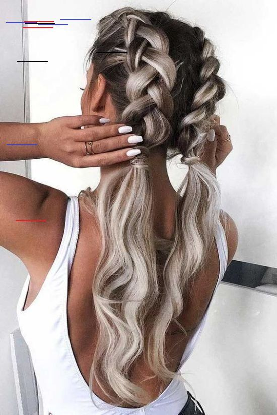 13 Cute Super Bowl Hairstyles Society19 Pinterest Averywarren15 Fashion Nails Acrylicnails Dutch Braid Hairstyles Long Hair Styles Braided Hairstyles