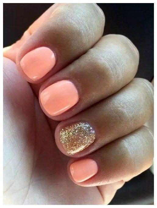 Kids, work and short nails gel natural simple 00003