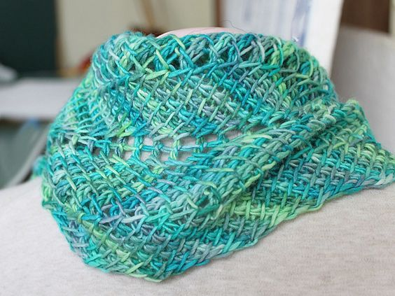 Ripple Stitch Knitting Pattern Scarf : Tunisian Ripple Scarf - gotta learn Tunisian Crochet so I can make this! Cr...
