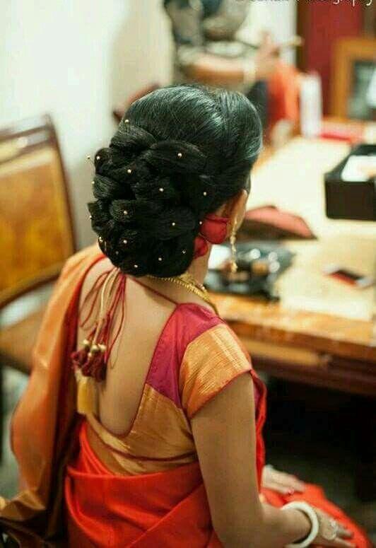 Pin By Mythili Babu On Hair Bridal Hair Buns Bun Hairstyles Bride Hairstyles
