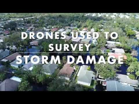 Drones Used To Survey Storm Damage After Hurricane Irma With