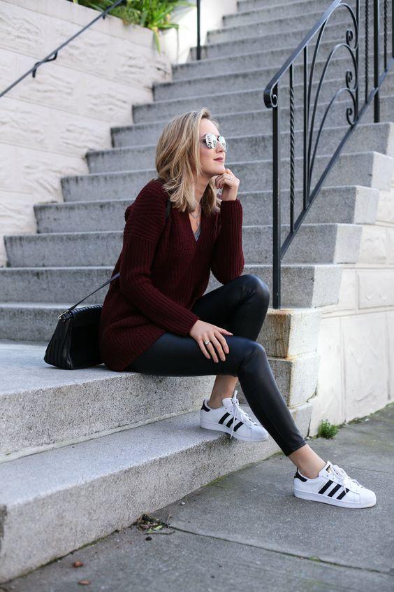Chunky Sweater + Leather Leggings - MEMORANDUM, formerly The Classy CubicleMEMORANDUM, formerly The Classy Cubicle