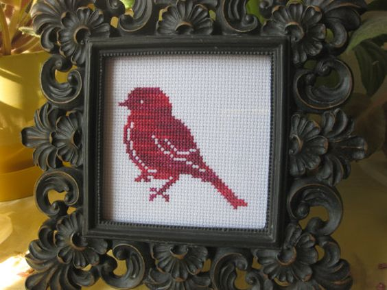 My Little Red Bird by CrumbsandBirds on Etsy, $27.00