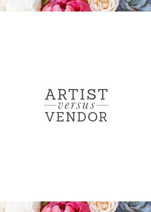 Blending the art of how to be a vendor and an artist as a photographer or designer