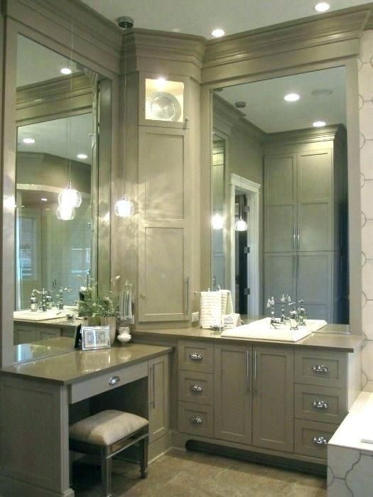 Tasty Master Bathroom Vanity With Makeup Area Master Bathroom Vanity With Makeup Area Bathro Bathroom Decor Bathroom Remodel Master Bathroom With Makeup Vanity
