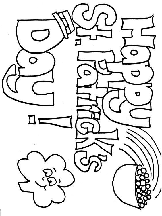 St Patrick S Day Coloring Sheet St Patrick S Day Crafts St Patricks Coloring Sheets St Patricks Day Crafts For Kids