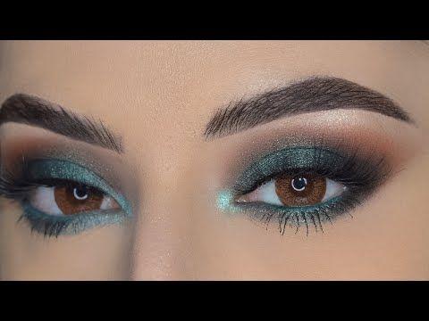 مكياج سموكي اخضر زيتي فخم جدا Green Smokey Eyes Youtube Eye Makeup Makeup Eyes