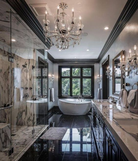 Want To Make A Stylish And Luxurious Bathroom Find Out What Home Decor Is Trending Now Discover M Traditional Bathroom Designs Dream Bathrooms House Design