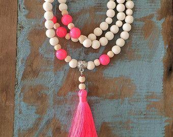 Borla collar collar playa joyas de abalorios por MariettaBijoux