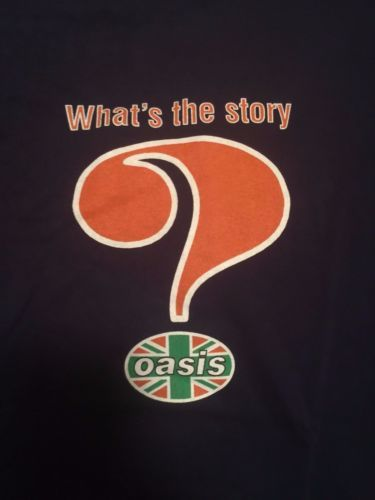 Oasis-Official-Whats-the-Story-Morning-Glory-Tour-Shirt-XL-Blue-1996