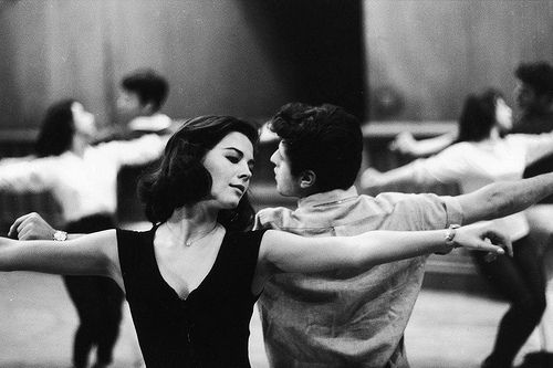Natalie Wood rehearing for West Side Story. What a picture!