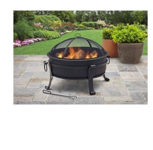 Portable Fire Pits For Patios : Portable fire pit patio firepit outdoor wood heater yard