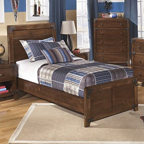 Ashley Delburne Wood Twin Panel Bed In Brown Nice Of You To Drop By To See The Picture T Twin Bedroom Furniture Sets Bed Furniture Full Size Bedroom Sets