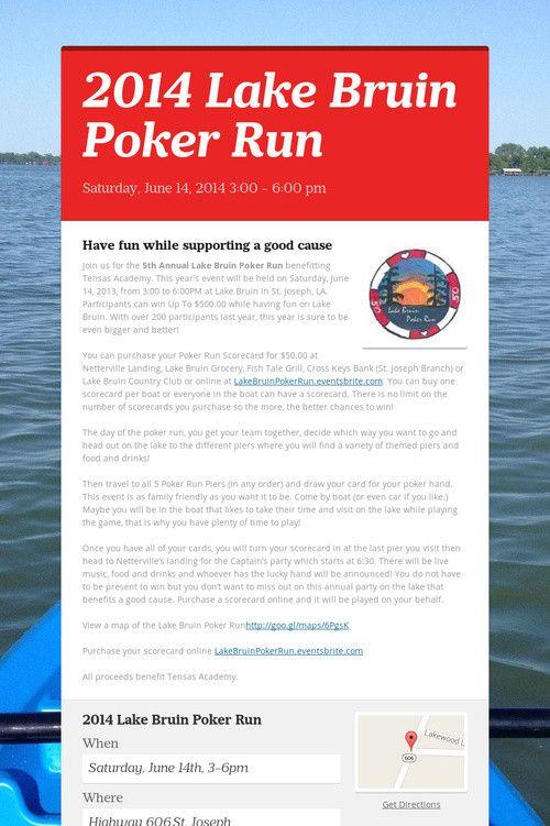 Lake geneva poker run
