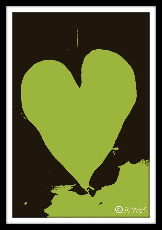 Green Heart Pop Art https://www.etsy.com/listing/224090526/green-heart-pop-art