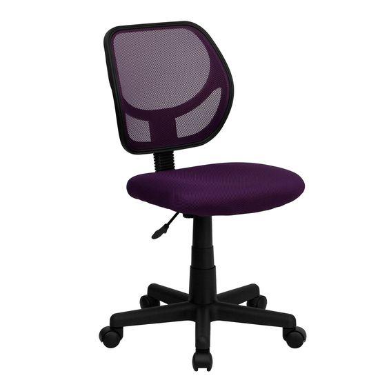 Mid-Back Purple Mesh Task Chair and Computer Chair WA-3074-PUR-GG