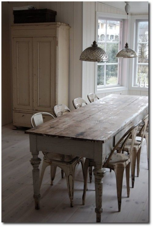 Old World Interiors Seen On Tumbr, lots of farmhouse table pictures!