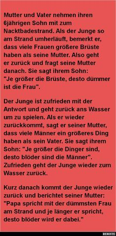 Mutter und Vater nehmen ihren 6jährigen Sohn mit..   DEBESTE.de, Lustige Bilder…