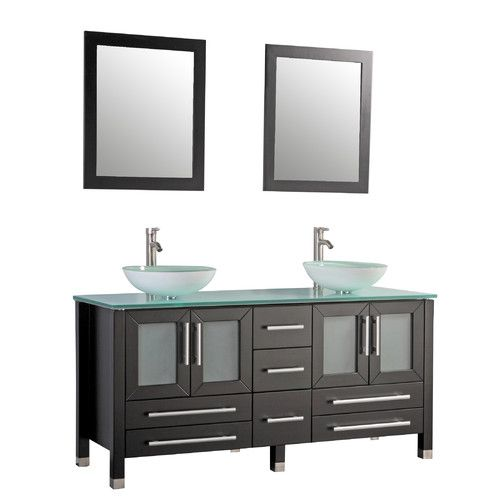 """Found it at Wayfair - Cuba 61"""" Double Bathroom Vanity Set with Mirrors"""