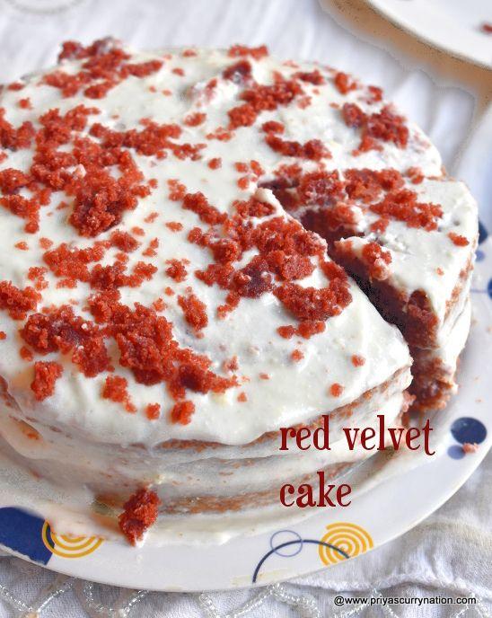 Red Velvet Cake Recipe With Creamy Yogurt Frosting Priya S Curry Nation Recipe In 2020 Velvet Cake Recipes Red Velvet Cake Recipe Cake Recipes