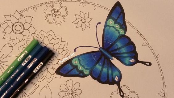 How I color a butterfly | MAGICAL JUNGLE by Johanna Basford
