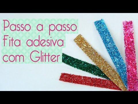 DIY Fita adesiva Glitter - YouTube