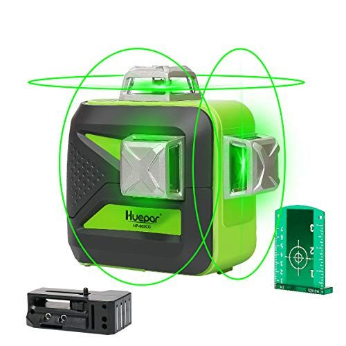 Huepar 3d Green Beam Self Leveling Laser Level 3x360 Cross Line Laser Three Plane Leveling And Alignment Line Laser Level Tw Laser Levels Laser Things To Sell