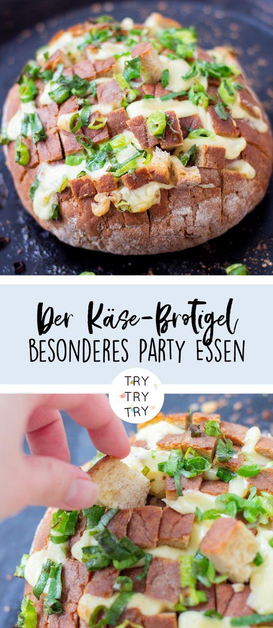 Besonderes Party Essen: Der Käse-Brotigel