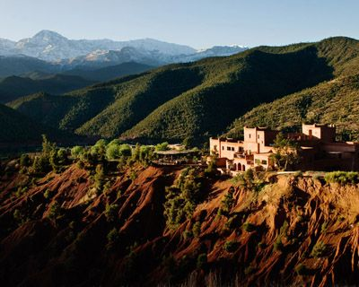 Atlas mountains Morocco - Ate at a wonderful restaurant in the mountains, saw women washing in a river & a little boy riding a donkey! It was magical!