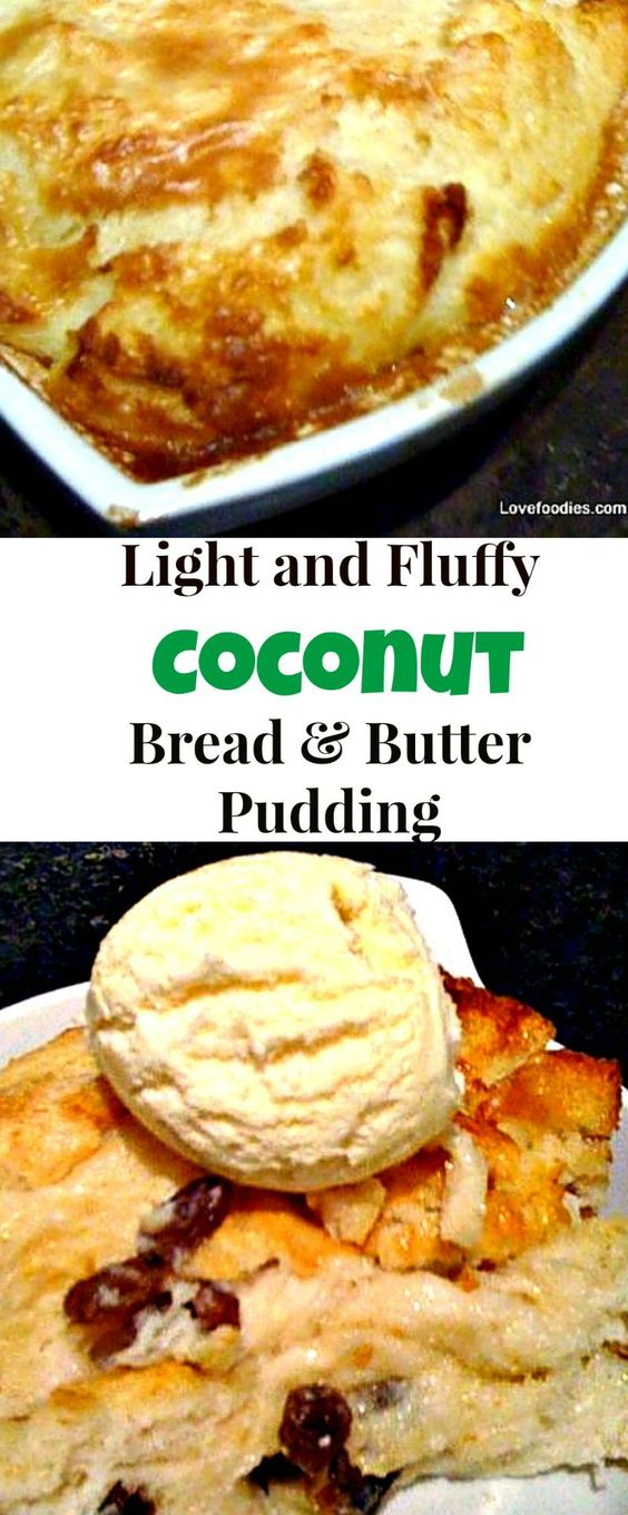 Bread and butter pudding, French toast and Coconut on Pinterest