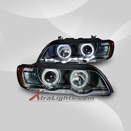 Bmw X5 E53 Halo Projector Headlights Black Pair Hid