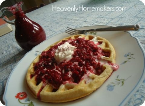 Easy Raspberry Pancake and Waffle Syrup