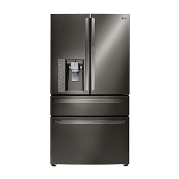 What i love about this new color in appliances is that its elegant, timeless, gorgeous and forever! LG Black Stainless Steel Series 30 CU.FT. 4-door French Door Refrigerator W/ Customchill™ Drawer