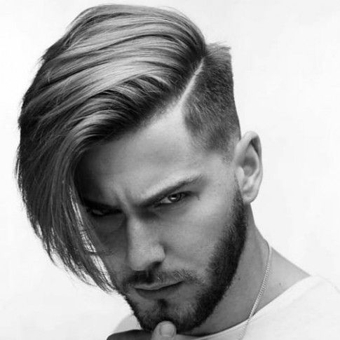 One Side Long Hairstyle Mens Boys Long Hairstyles Mens Hairstyles Thick Hair Boys Haircuts
