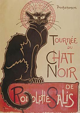Poster by Theodore Steinlein, a French artist in the Art Nouveau era: