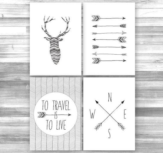 Jeu de 4 plaquettes Wander Art imprimable par PrintableRandoms