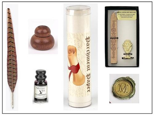 Young Writer's Wax Seal & Feather Pen Writing Bundle
