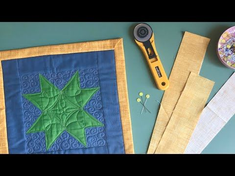 Frame A Quilt With Wide Binding Youtube In 2020 Quilt Binding Quilting Tutorials Quilts