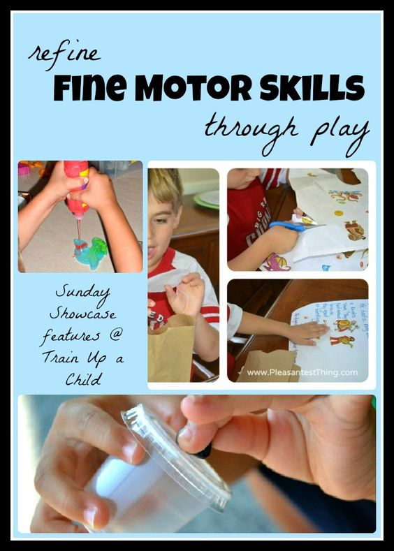 The Sunday Showcase at Train Up a Child - featuring playful ideas for improving fine motor skills.