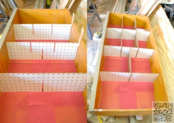 5. Peg #Board - 8 Awesome DIY Drawer #Organizers ... → DIY #Drawer